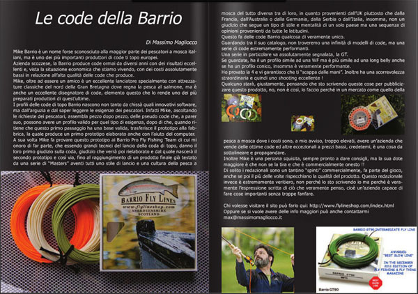 Barrio Fly Lines Review in FFM Italy online magazine